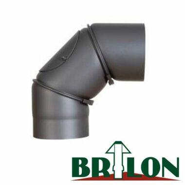 BRILON 120/90°  állítható acél füstcső könyök