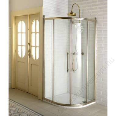 GQ5290 SAPHO ZUHANYKABIN GELCO ANTIQUE ÍVES BRONZ 900x900mm TRANSPARENT ÜVEGGEL