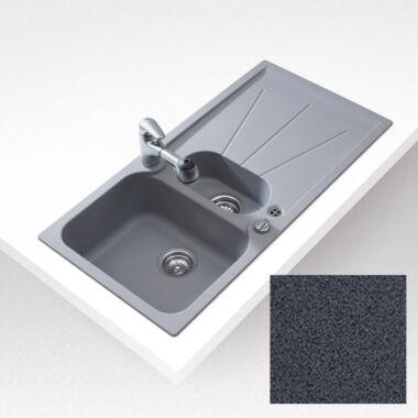 TEKA CARA 60 B TG silgranit megfordítható mosogató metál fekete színben