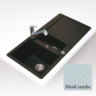 TEKA LUGO 60 B TG silgranit megfordítható mosogató metál szürke színben