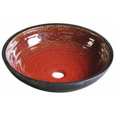 SAPHO ATTILA kerámia mosdó paradicsom piros/kerozin 44x14cm