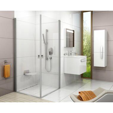Ravak Chrome CRV2 - 110 zuhanyajtó fehér kerettel+Merevítő