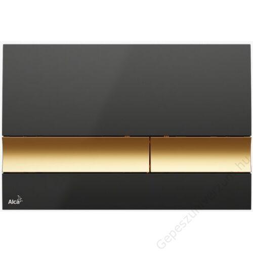 M1728-5 ALCAPLAST M17xx M1728-5 Fekete/arany nyomólap 250×175×40mm
